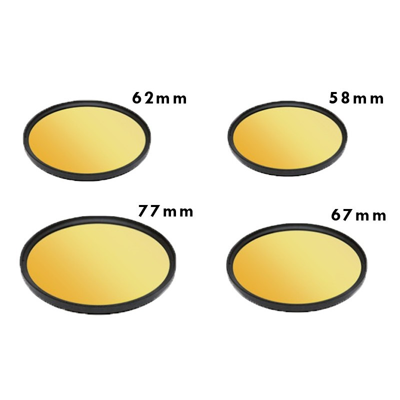 Fluorodive yellow filter for camera 77mm BigBlue