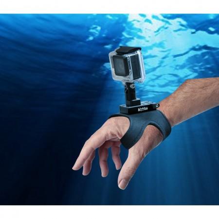 Gant avec attache rapide pour caméra avec fixation type GoPro BigBlue