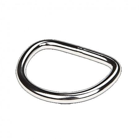 D-Ring droit (6 mm d'épaisseur) XDeep