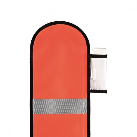 Opened Dive Alert Surface Marking Buoy - Orange - 140 cm XDeep