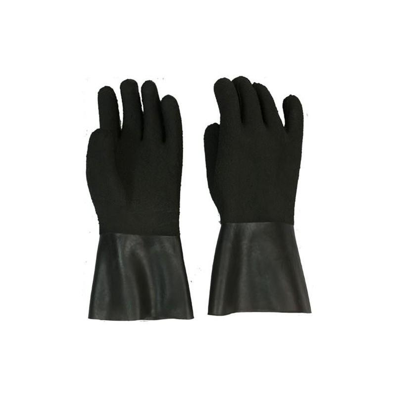 Paire de gants étanches en Latex avec paume renforcée et sous-gants