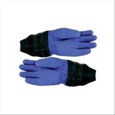Dry Glove PVC Blu whit latex wrist