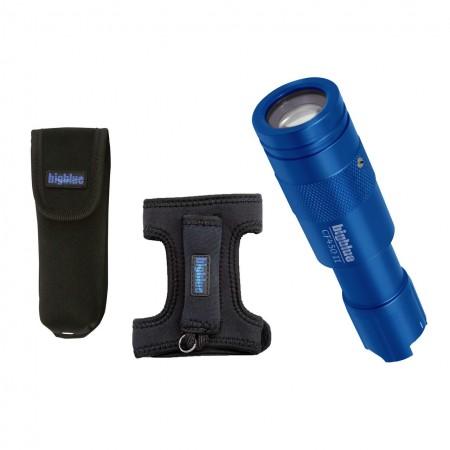 Lampe CF450 II bleue, gant néoprène et étui de protection BigBlue