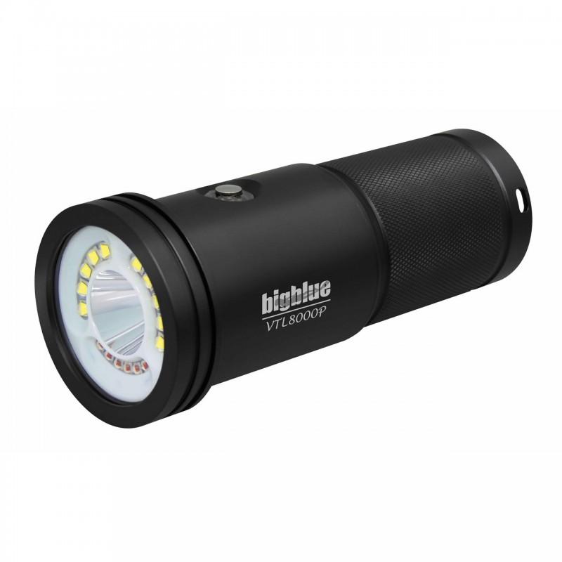 VTL8000P Tech 10° & photo/video 120° BigBlue light