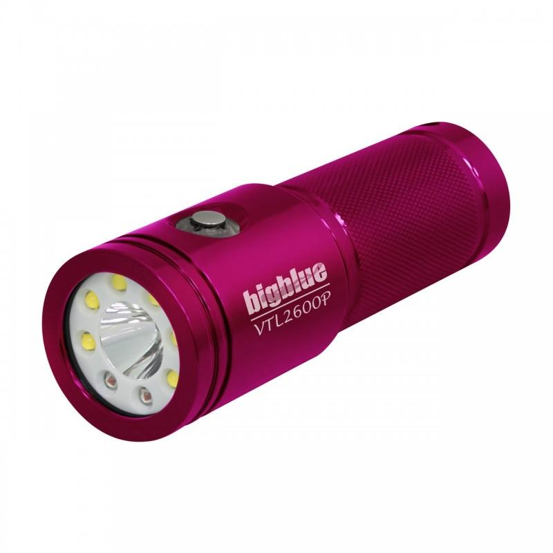 VTL2600P Tech 10° & photo/video 100° light BigBlue pink