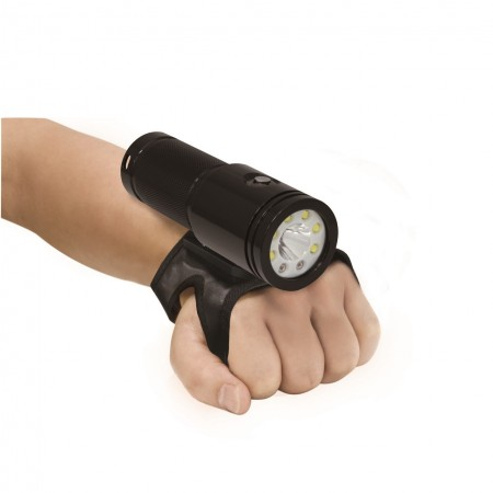 VTL2600P Tech 10° & photo/video 100° light BigBlue with neoprene glove