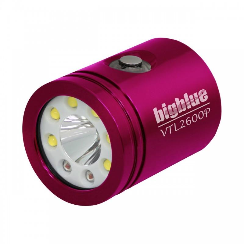 bigbluedivelights-tete-interchangeable-vtl2600p-phare-de-plongee-rose