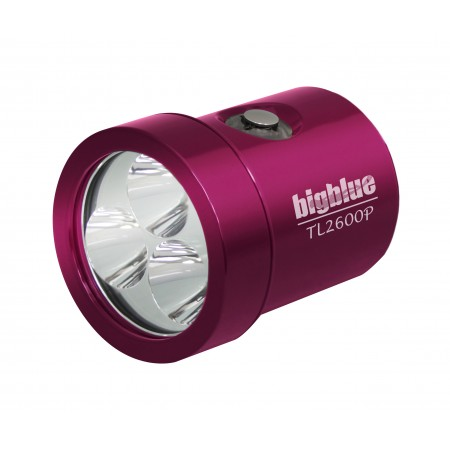 bigbluedivelights-tete-interchangeable-tl2600p-phare-de-plongee-rose