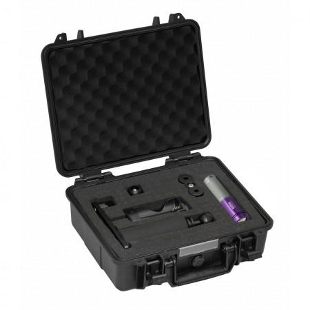 AL1800XWP II Tri Color argent/violette, valise de protection et kit platine, bras et boule 25mm