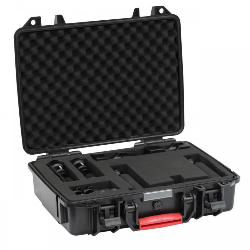 Ensemble complet pour caméra type GoPro : 1x AL1200WP II, 1x AL1200XWP II, platine avec deux poignées et valise de protection