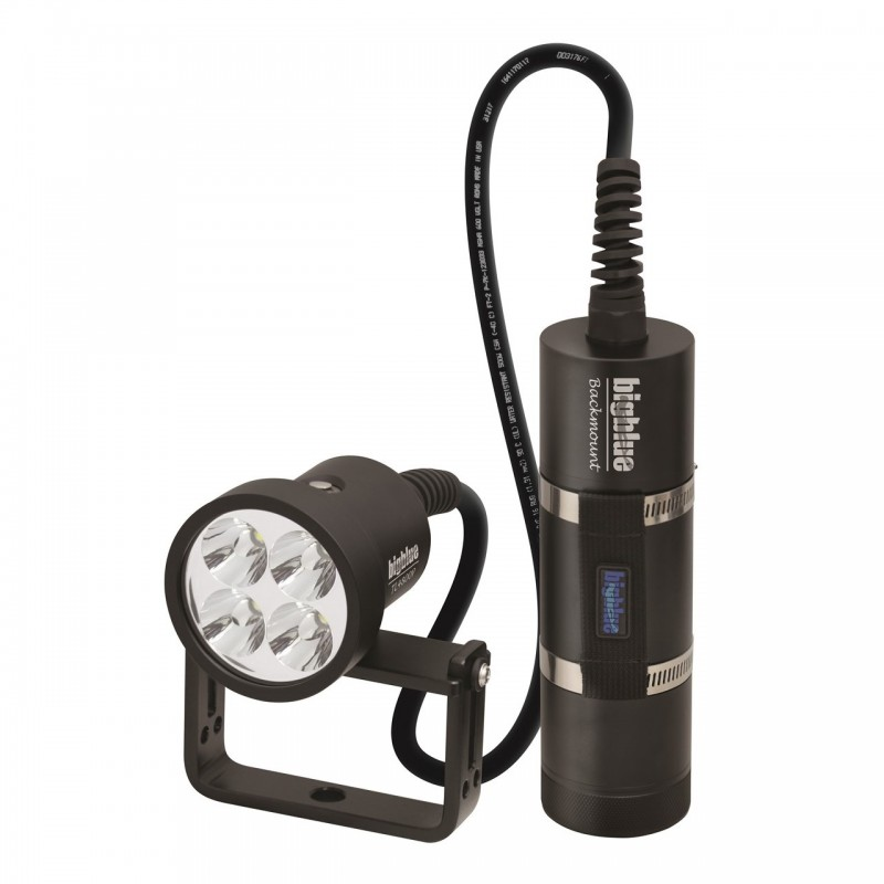 TL4800P Backmount : Tech light 10° with canister, 180° cable and protective case