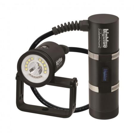 VTL8000P Sidemount : Lampe d'exploration déportée 10° et 120° avec cable à 90° et valise de protection