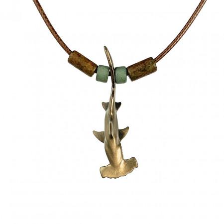 collier-requin-marteau-bronze-et-perles-made-in-canada