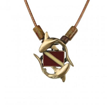 collier-requin-drapeau-de-plongee-bronze-made-in-canada