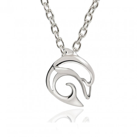 pendant-silver-dolphin-made-in-canada