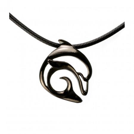 pendant-hematite-black-dolphin-made-in-canada