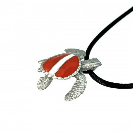 collier-tortue-plongeur-made-in-canada-drapeau-de-plongee