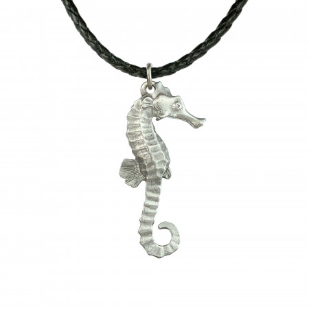 hippocampe-collier-étain-made-in-canada